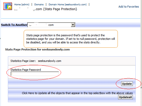 Set awstats visit password pic 1.