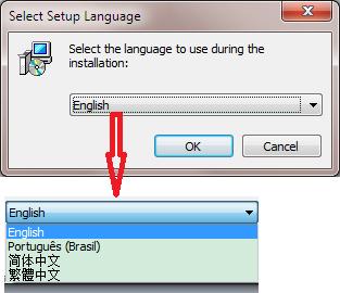 Inno 安装包启动时显示语言列表,并自动选择系统语言。