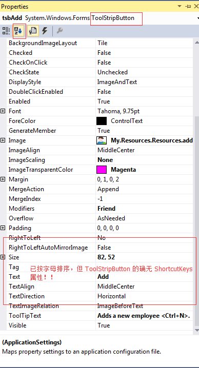 ToolStripButton 无 ShortcutKeys 属性!