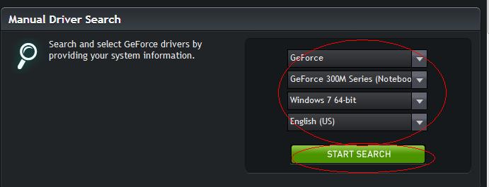 Search NIVIDIA GeForce Driver